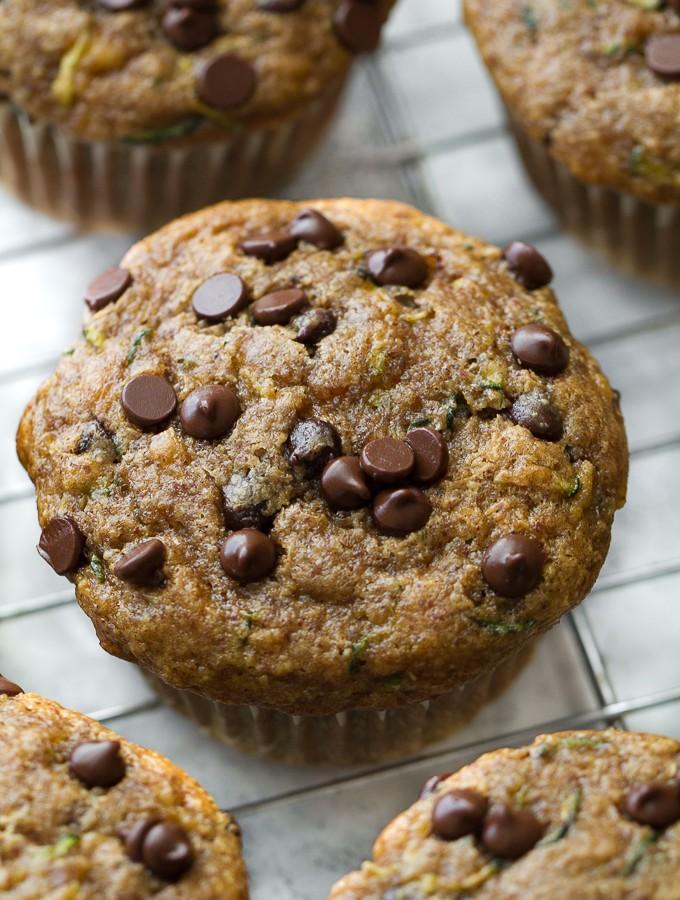Flourless Zucchini Banana Muffins