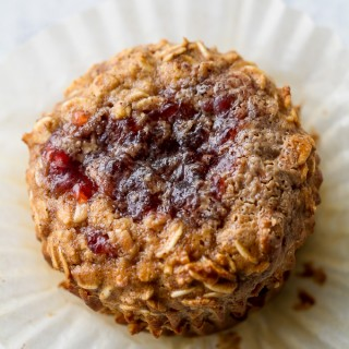 Almond Butter and Jelly Baked Oatmeal Cups4