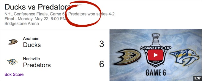 Predators Win