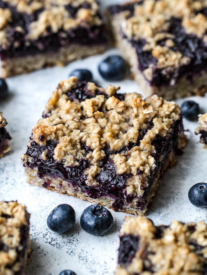 Blueberry Banana Oat Bars