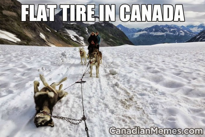 Canadian Flat Tire