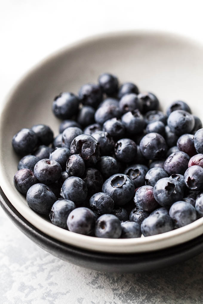 Close Blueberries