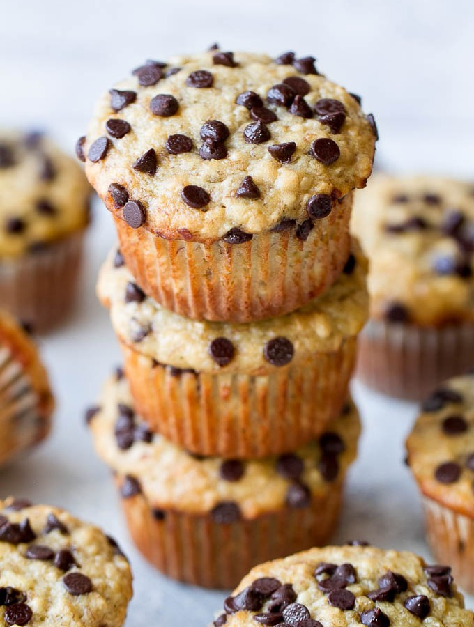 One Bowl Chocolate Chip Banana Oat Muffins5