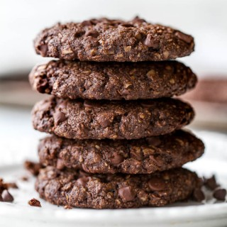 Flourless Double Chocolate Oatmeal Cookies4