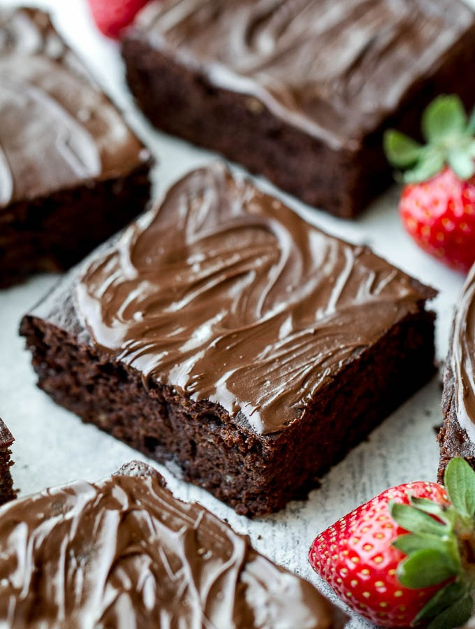 Flourless Strawberry Brownies