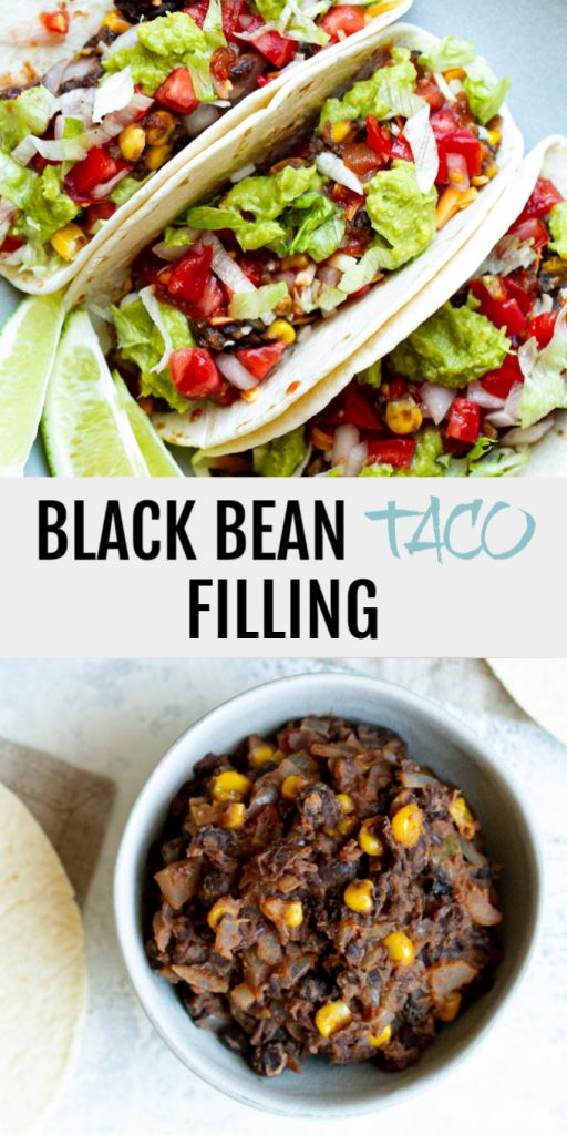 A quick and easy black bean taco filling that even meat eaters will love! Loaded with flavour and plant-based protein, it makes a perfect vegan option for your next taco night!