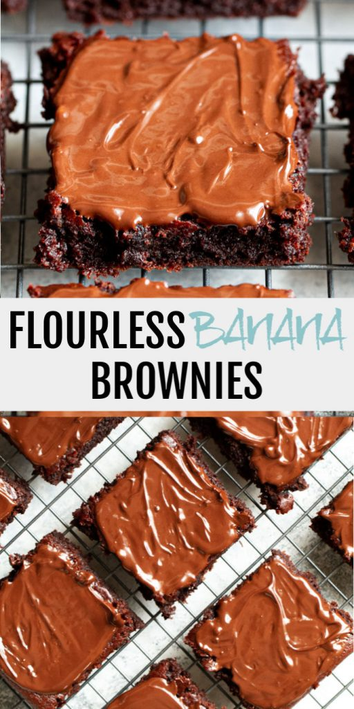 Melt-in-your-mouth Flourless Banana Brownies that are irresistibly fudgy and chocolatey!